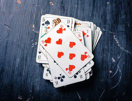 Cards, Card Game, Heart, Pik, Pokes Fun At