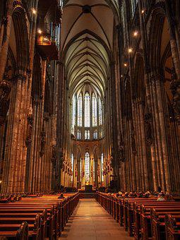 Gothic Church, Church, Catholic, Mass, Old Church