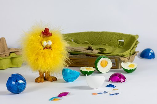 Chicken, Easter Eggs, Easter, Chicks, Egg Carton