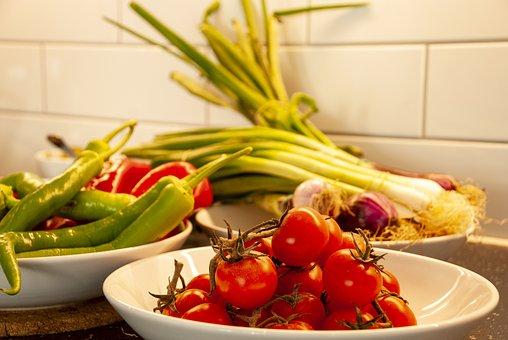 Vegetables, Mat, Healthy, Eat, Tomatoes, Green, Fresh