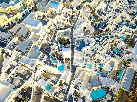 Santorini, City, Greece, Tourism, Holiday, Landscape