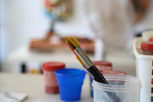 Workshop, Atelier, Brush, Paint, Hobby, Craft, Paints