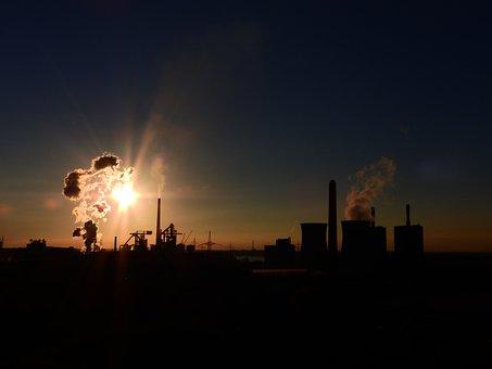 Power Plant, Industry, Chimney, Smoke, Industrial Plant
