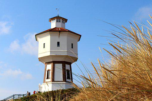 Langeoog, Water Tower, Places Of Interest