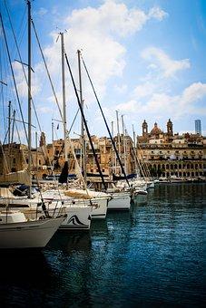 Malta, Marsaxlokk, Boat, Fishing, Boats, Mediterranean