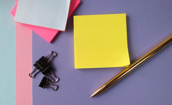 Post It Notes, Desktop, Notes, Working, Office