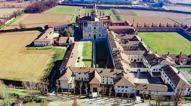 Certosa Di Pavia, Pavia, Front View