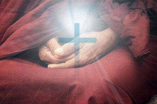Religion, Cross, Faith, Pray, Man, Church, Sunrise