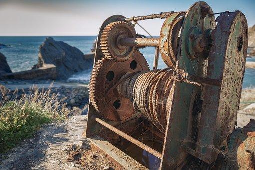Winch, Vintage, Old, Equipment, Retro, Nautical