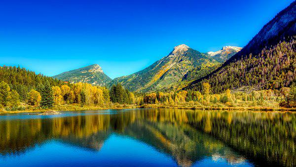 Colorado, Lake, America, Reflections, Rocky Mountains