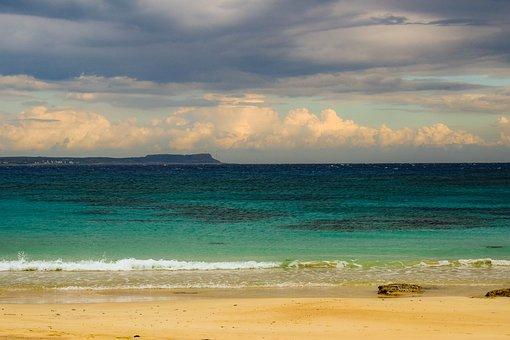 Sea, Beach, Sky, Clouds, Horizon, Landscape, Afternoon