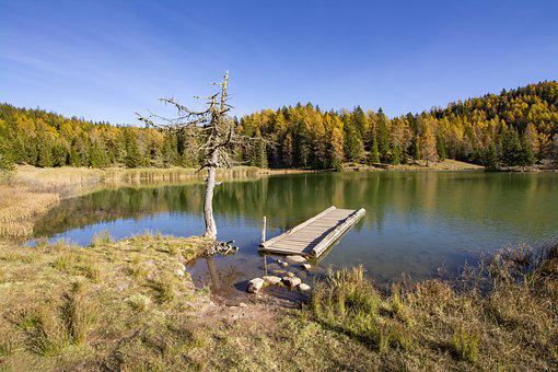 Tretsee, Felixer Pond, Mendel Pass, South Tyrol