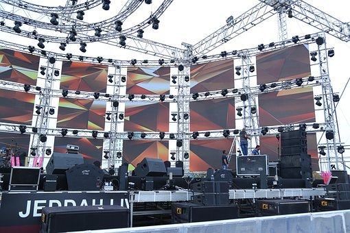 Spotlight, Led Screens, Electric Lamp, Stage Theater