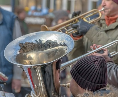 Music, Street Musicians, Street Music, Winter, Cold