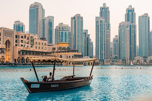 Downtown, Dubai, Uae, Tourism, City, People, Buildings
