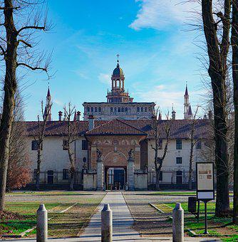 Certosa Di Pavia, Pavia, Front, Religion, Entry, Viale