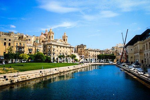 Malta, Ship, Water, City, Sky, Mediterranean, Travel
