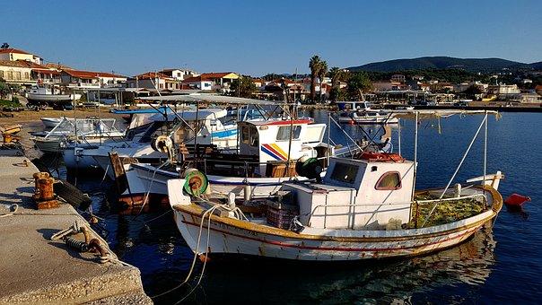 Fishing Port, Mediterranean, Port, Bay, Fishing, Greece