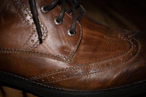 Shoe, Leather Shoe, Brown, Men's Shoe, Leather