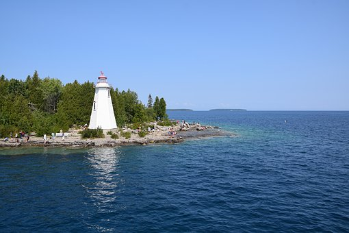 Lighthouse, Canada, Ontario, Tobermory, Georgian Bay