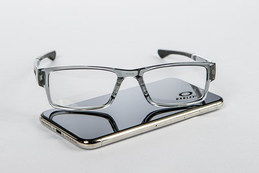 Glasses, Cell Phone, Cell, Smartphone, Phone