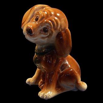 Ceramic Puppy, Figurine, Porcelain, Ceramic, Decoration