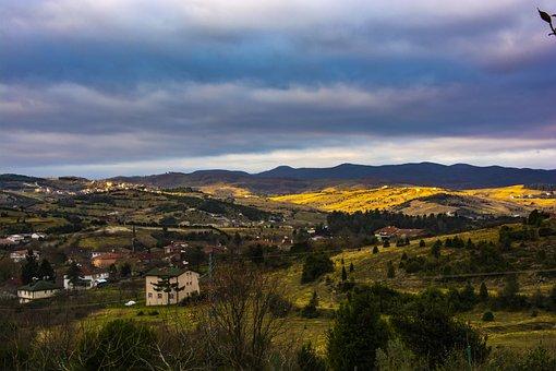 Landscape, Nature, Forest, Sky, Sunset, Clouds, Rural