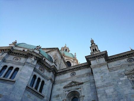 Como, Duomo, Cathedral, Spires, Dome, Lake Como, Italy