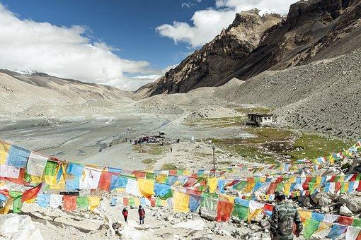 Tibet, North Side, Tschomolangma, China, Earth