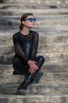 Fashion, Girl, Model, Portrait, People, Stairs, Love