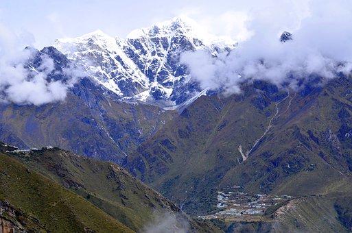 Nepal, Mountain, Himalayas, Landscape, Snow, Mountains
