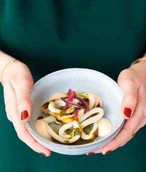Squid, Greek, Food, Restaurant, Mediterranean, Mezzeh