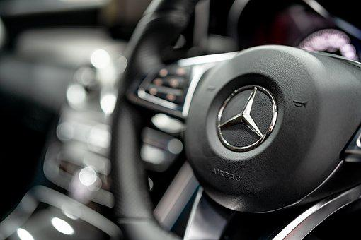 Car, Benz, Mercedes, Steering, Technology, Meter