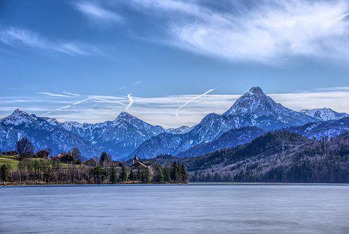 Alpine, Mountains, Mountain Range, Snow, Lake