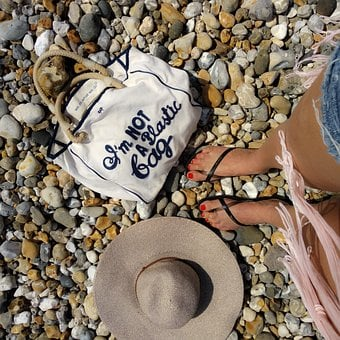 On The Beach, A Woman On The Beach, Be Sustainable