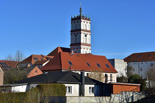 Neustrelitz, City Church, Sunshine, Other Point Of View