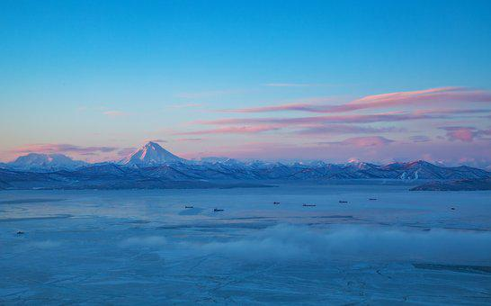 Kamchatka, Dawn, Palette, Colors, Sky, View, Beauty