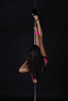 Girl, Heels, Paladins, Pylon, Plastic, Pole, Dance