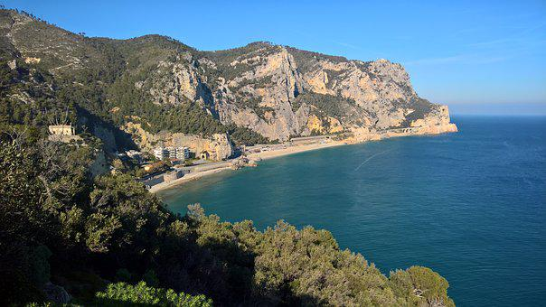 Sea, Varigotti, Beach, Liguria, The Bay Of The Saracens