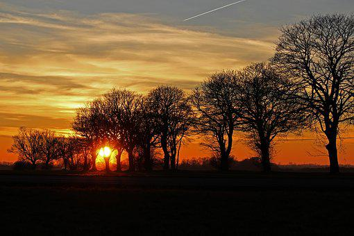 Sunset, Evening Sky, Abendstimmung, Sky, Afterglow