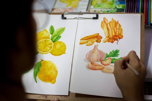 Paint, Write, Garlic, Food, Spices, Nutrition, Vitamin