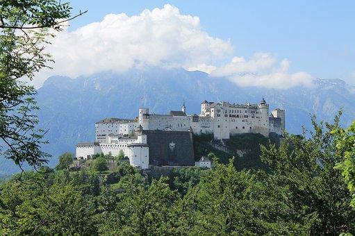 Salzburg, Castle, Austria, Mozart, The City Of Mozart