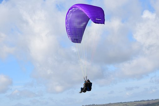 Paragliding, Paragliders, Two-seater, Wing Purple