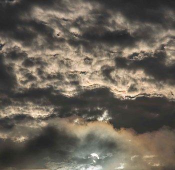 Clouds, White, Grey, Cloudscape, Sun, Weather, Pattern