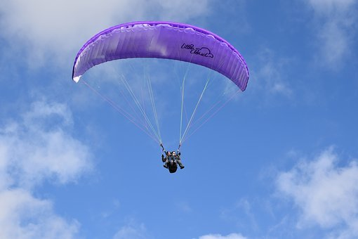 Paragliding, Paragliders, Wing Purple, Sailing