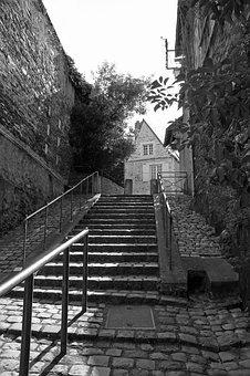 Staircase, In The City, Architecture, Urban, House, Old