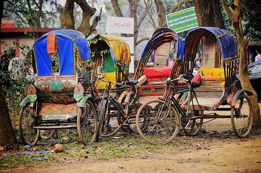 Rickshaws, Vehicles, Bangladesh, Cityscape, Nyc