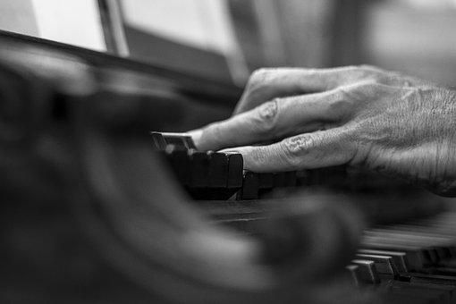Hands, Black And White, Church Organ, Register