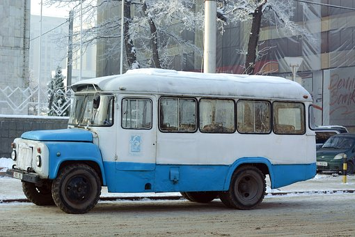Bus, Kyrgyzstan, Old, Communist, Cccp, Ussr