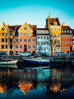 Copenhagen, Christianshavn, Harbour, Amager, Colourful